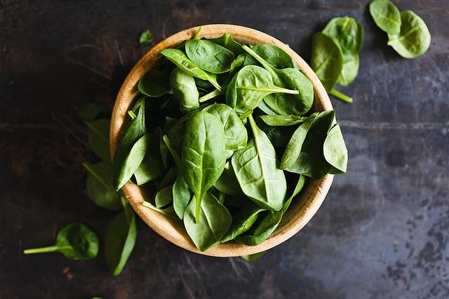 spinach high in fiber